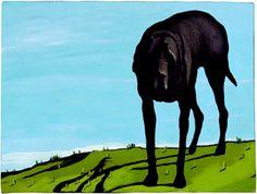 black dog at baker's ridge. weiss.
