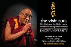 Dalai Lama returning to Emory University Oct. 8-10...... Humility is the key of life