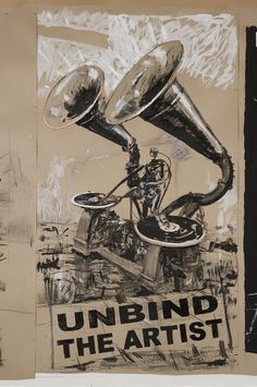 William Kentridge, Drawing for Refusal of Time: Unbind the Artist, 2011