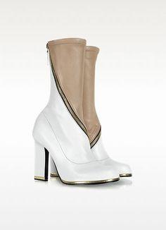 Jil Sander Color Block Zippered Leather Boot