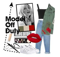 """model off duty"" by sftylrs ❤ liked on Polyvore featuring Étoile Isabel Marant, MadeWorn, adidas Originals, MAC Cosmetics, Lime Crime and Puma"