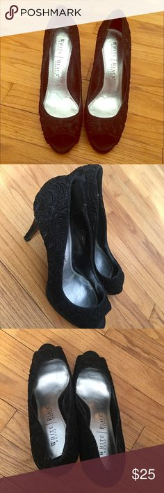 White House Black market Heels These are beautiful comfortable rarely used black heels White House Black Market Shoes Heels