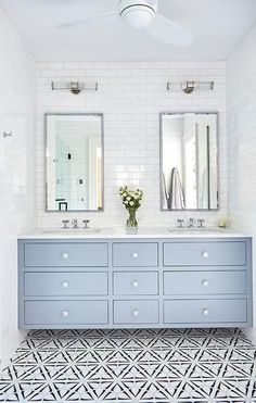 Looking for Bathroom and Double Vanity Bathroom ideas? Browse Bathroom and Double Vanity Bathroom images for decor, layout, furniture, and storage inspiration from HGTV. Bathroom Renos, Bathroom Renovations, Home Remodeling, Bathroom Ideas, Remodel Bathroom, Bathroom Organization, Bathroom Pictures, Bathroom Layout, Bath Ideas