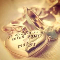 Disney quote on a locket. I want it.