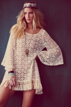 Hippy festival fashion #boho #lace #festival