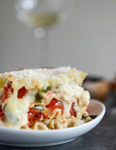 White Pizza Lasagna. @FoodBlogs