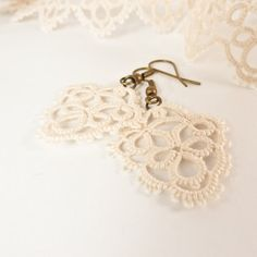 Bridal+lace+earrings+vintage+inspired++retro+by+Decoromana+on+Etsy