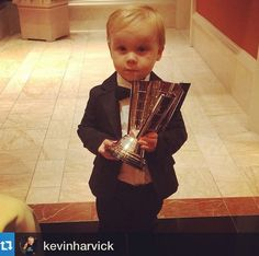 """All together now...""""Awwwww!!""""  NASCAR Champion Kevin Harvick's son, Keelan."""