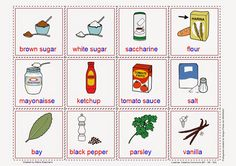 Cards. Grocery Store Products (III).  Free Language/Speech Therapy Material! Montessori inspired.