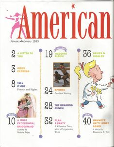 American Girl Magazine - January 1993/February 1993 Issue - Page 1 (Contents - Part 1)