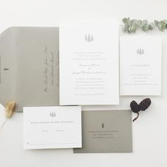 As we move through summer and into fall, the Aspen Collection is a perfect winter design. Now is the perfect time to begin designing your semi custom wedding invitations!