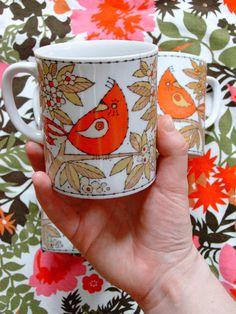 b9acec54c0b82 set of 4 vintage japanese bird mugs by krupen on Etsy