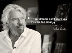 The bigger the dream, the greater the opportunity http://virg.in/bgg #Richard #Branson