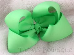 mint green boutique bow