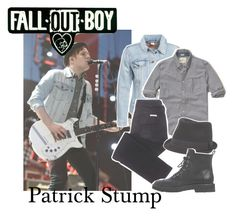 """""""Patrick Stump from Fall Out Boy"""" by zombielover100 ❤ liked on Polyvore featuring Levi's, Hollister Co., sass & bide, BKE, Giuseppe Zanotti, men's fashion and menswear"""