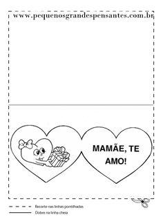 Pequenos Grandes Pensantes.: Cartões Para Colorir - Dia Das Mães.
