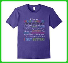 Mens Growth Mindset Grow My Brain Classroom Teacher Gift T-Shirt Small Purple - Careers professions shirts (*Amazon Partner-Link)