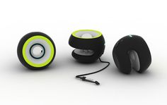 This small, attachable, and controllable speaker allows you to listen to music while doing whatever you want.