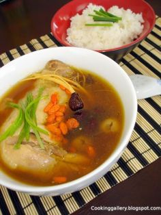 Delicious Chinese Herbal Chicken Soup.