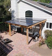 Solar electric pergola from Powerfully Green. Locally based company that did some of the solar at the Eco Experience