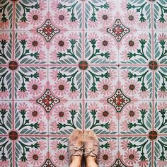 Peachy pink tiles perfect for adding a pop of colour into a Kitchen. Peachy pink tiles perfect for a