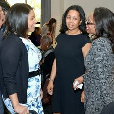The Honorable London Breed (left), member of the San Francisco Board of Supervisors, speaks with Celebrants at the MLK2014 Labor and Community Breakfast.