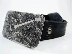 Acoustic Guitar Belt Buckle  Etched Stainless by RhythmicMetal, $60.00