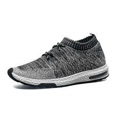 e96b5f755 Buy 2018 Fashion Men Shoes Casual Weaving Fly Mesh Breathable Light Soft  Black Slip on Mens