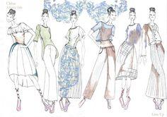 Fashion Sketchbook - fashion design sketches; line up; fashion portfolio // Victoria Selfe