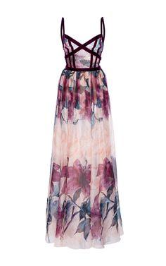 Printed Organza Gown by ELIE SAAB for Preorder on Moda Operandi