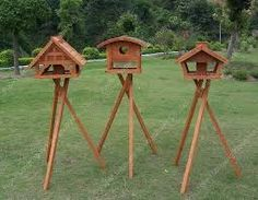 Image result for wooden bird feeders