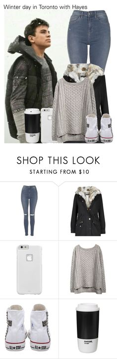 """Winter day in Toronto with Hayes"" by irish26-1 ❤ liked on Polyvore featuring Aéropostale, Topshop, Case-Mate, Converse and ROOM COPENHAGEN"