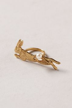 Lapin Two-Finger Ring