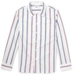 Sleepy Jones Regimental Striped Cotton Pyjama Shirt