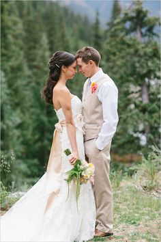 Rustic Colorado Wedding. Captured By: Ryan Price ---> http://www.weddingchicks.com/2014/06/02/no-cellphone-service-colorado-wedding/