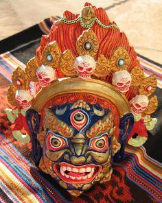 Indian Masks | ... Masks, Thai Khon Mask, Tibetan Wrathful Deity Mask, Barong Masks