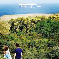 #みはらしの丘 から臨む #太平洋 と #タンカー #ひたちなか海浜公園 #ネモフィラの丘 #ひたちなか #茨城 #海 #船  #hitachinakaseasidepark #nemophila #ibaraki #japan #tankers #ships #ship#sea  #pacific