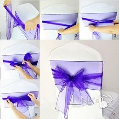 In stock Colorful Organza Ruffles Chair Sash Wedding Decorations Anniversary Party Banquet Accessory Wedding Chair Decorations, Wedding Chairs, Wedding Table, Wedding Sash, Purple Wedding, Diy Wedding, Wedding Dresses, Chair Bows, Chair Sashes