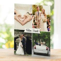 """Dankeskarte Hochzeit """"Impressionen"""" mit 6 Fotos von Euch"""