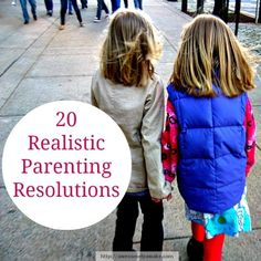 {A New Year, A New You} What goals are you busy setting? How about creating a resolution that will truly make you happier at home with your whole family? {20 Realistic Parenting Resolutions via Awesomely Awake}