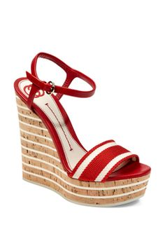Gucci Red Wedge Sandal