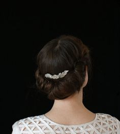 Beautiful Bridal Updo and Crystal Hair comb