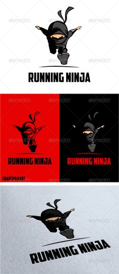 Buy Running Ninja Logo by mehibi on GraphicRiver. fast stunning bold Running Ninja logo, perfect for personal trainer, gymnastic, martial arts, sport club and other bo. Kids Ninja Warrior, Ninja Logo, Ninja Party, Japanese Logo, Vintage Logo Design, Graphic Design, Geometric Logo, Kids Logo, Color Vector