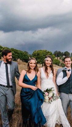 Bridesmaid Dresses, Wedding Dresses, Bright, Party, Blue, Fashion, Bridesmade Dresses, Bride Dresses, Moda