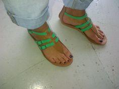 Neon sandals
