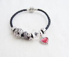 Heart Charm Bracelet Pandora Bracelet by nayring on Etsy