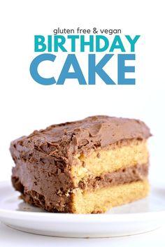 Gluten Free Vegan Yellow Cake
