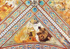 Cimabue : Saint Luke (detail from the Vault of the Evangelists) (Basilica di San Francesco d'Assisi  (Italy - Assisi)) 1240-1302  przedstawienie ewangelistów nie ma pełnego