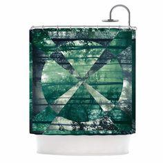 Foliage by Matt Eklund Geometric Shower Curtain