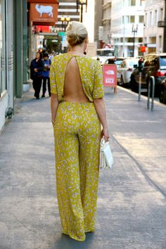 WHY DO I LOVE PANTSUITS/LONG ROMPERS SO MUCH? seriously. i need this. except not in mustard. #bcbg